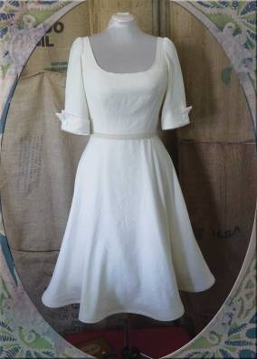 Custom Dress Italian linen, silk, cotton & vintage linen.