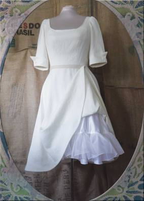 Cotton and silk organza petticoat.
