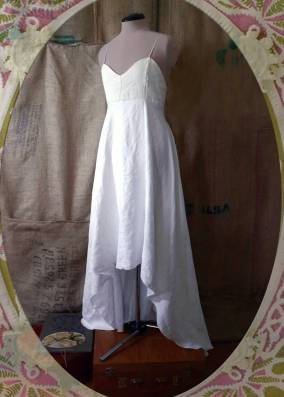 Underdress vintage linen and cotton. Dye it and wear it again. {front}